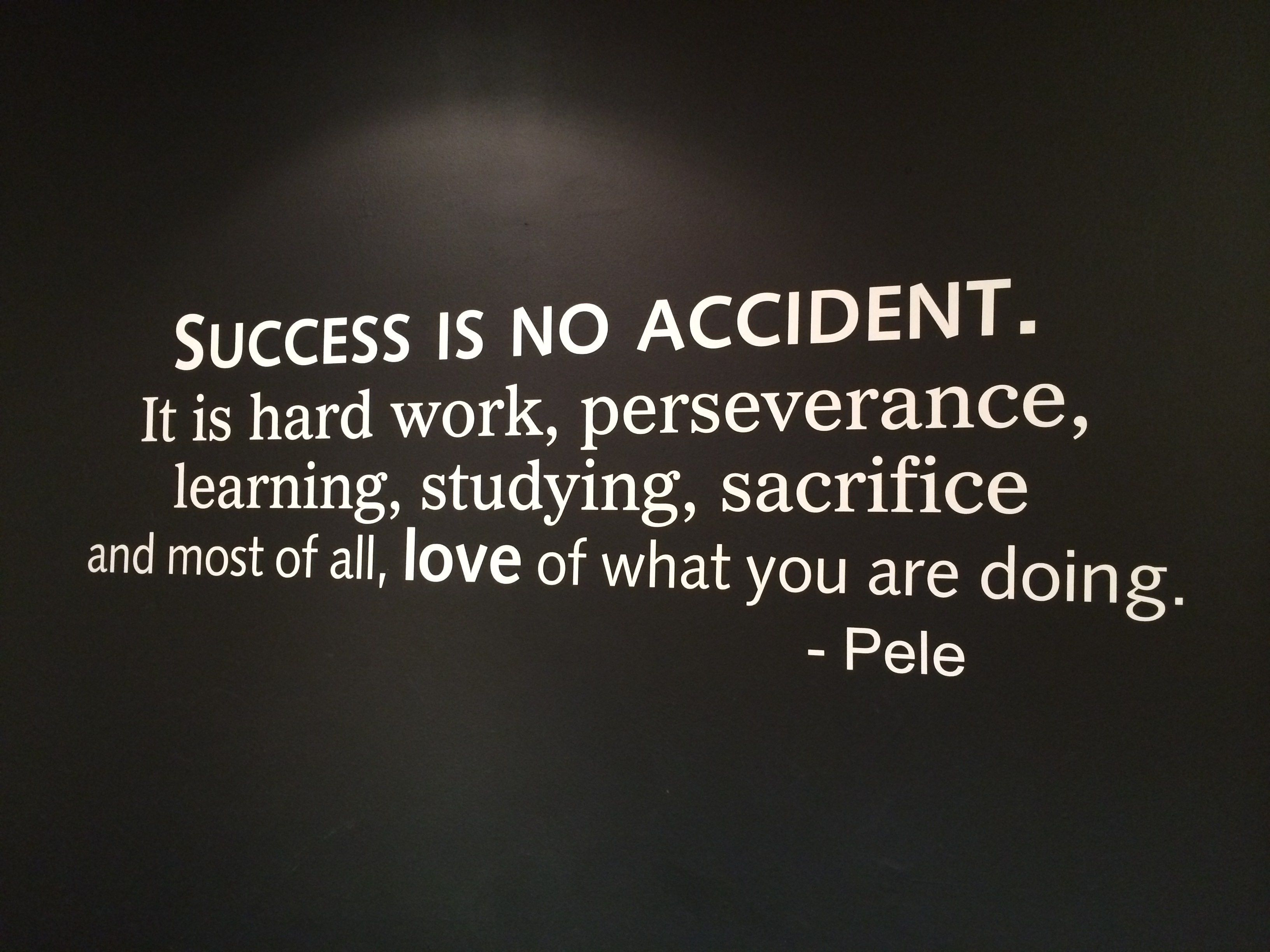 Success is no accident it takes a lot of hard work whitus
