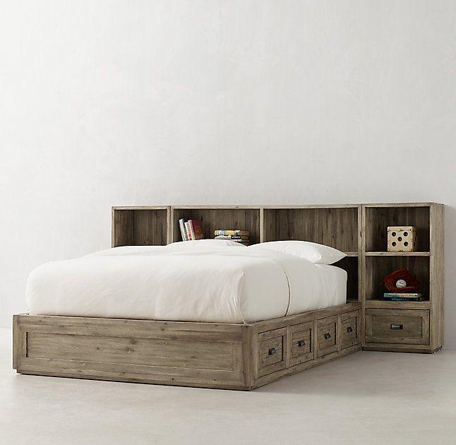 Keynes Storage Bed With Cubby Headboard Nightstand Set Sister