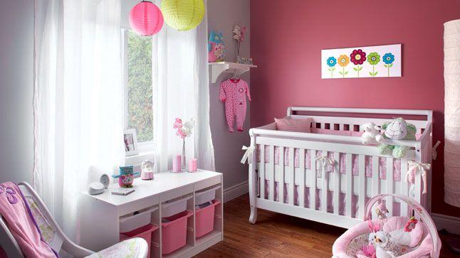 deco chambre bebe fille rose – visuel | Aménager et ranger ...
