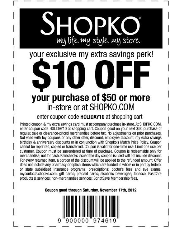 photograph about Shopko 20 Off Printable Coupon titled Shopko #Coupon Just take 10 off any 50+ invest in. [Exp 11/17