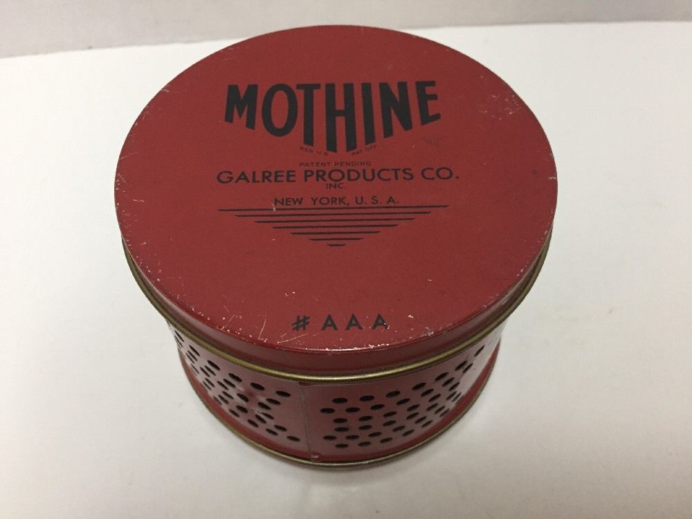 Mothine Tin Empty Vintage Garlree Products Kills Moths #Mothine