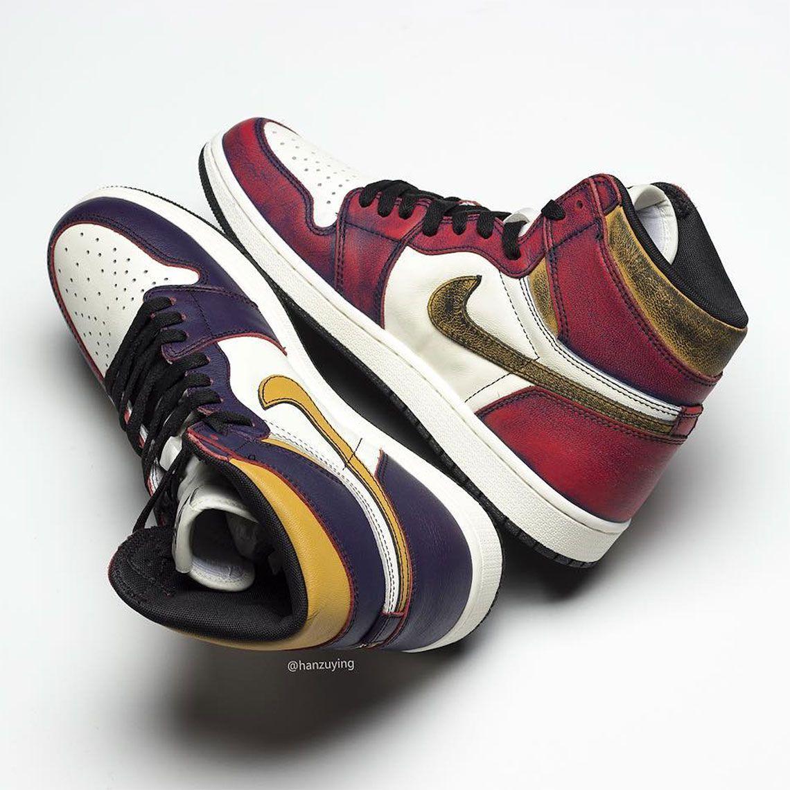 Air Jordan 1 SB Shoes - Lakers Bulls