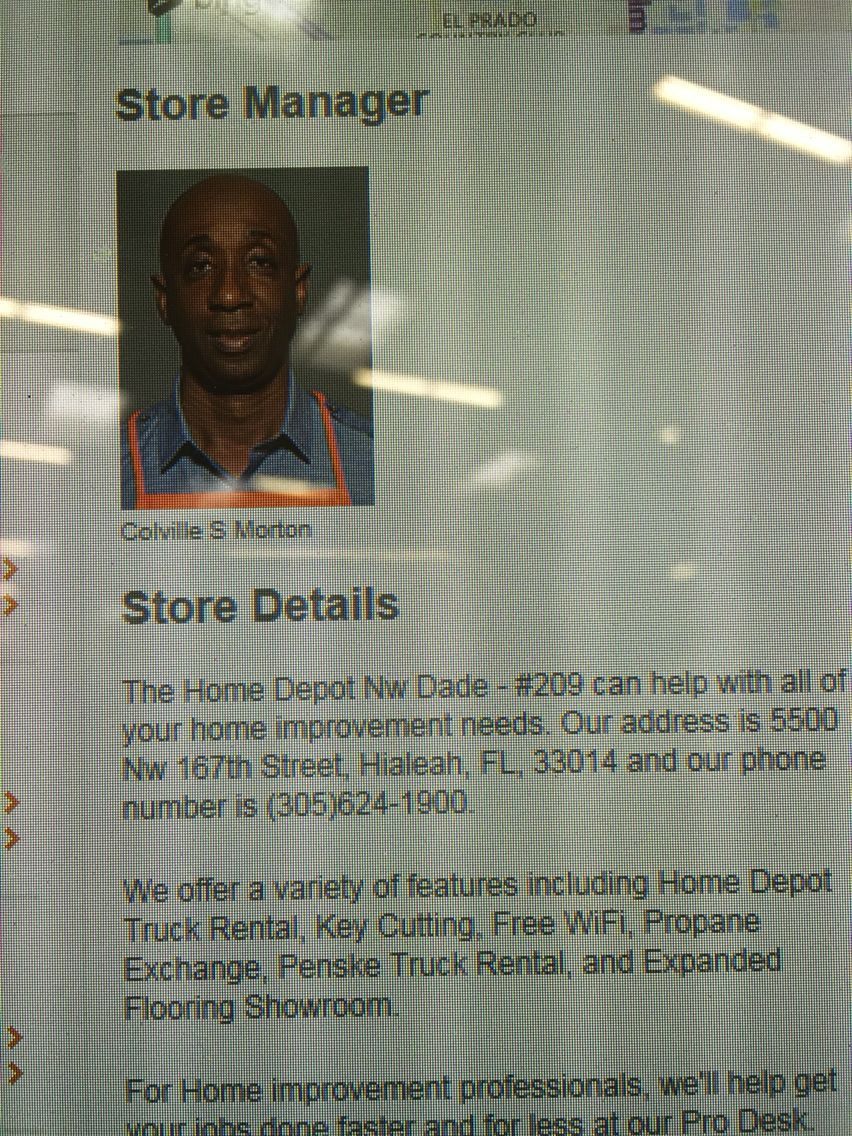 Homedepot Store 0209 District265 Store Manager Stuart Colville S Morton Home Depot Projects Home Depot Store Manager