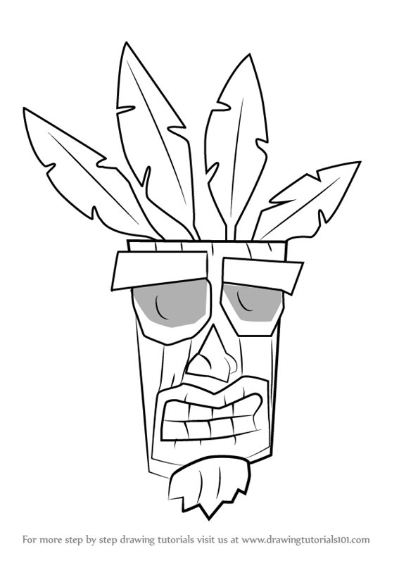 Learn How to Draw Aku Aku from Crash Bandicoot (Crash ...