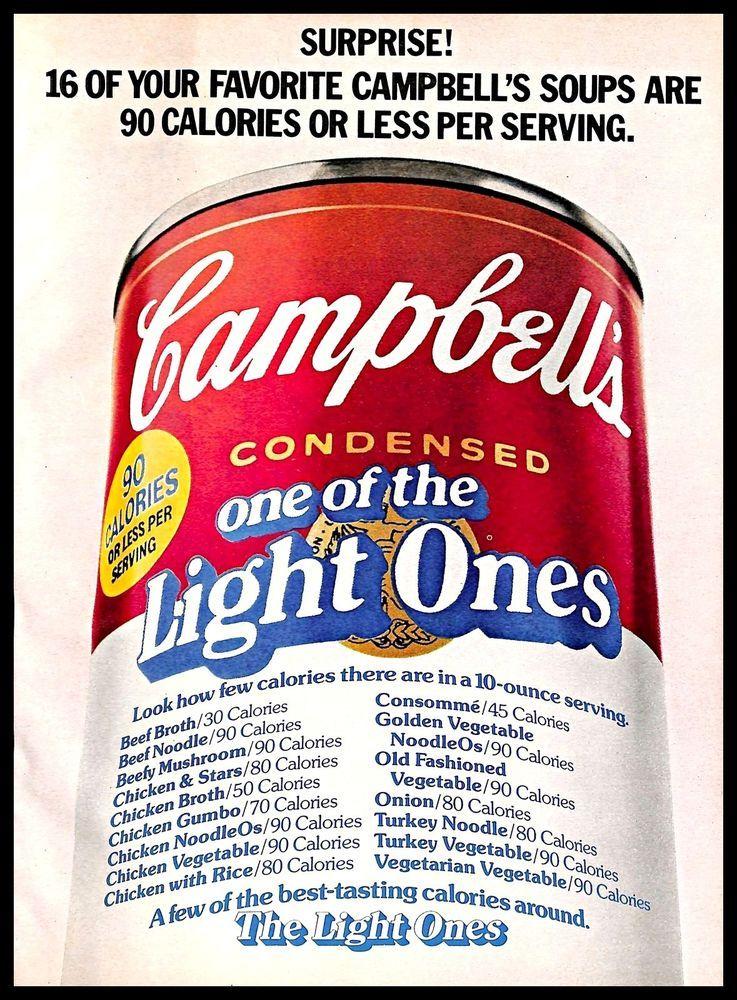 Details about 1979 Campbell's Soup Vintage PRINT AD Diet