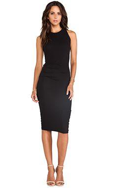 James Perse Skinny Tucked Tank Dress in Black  REVOLVE