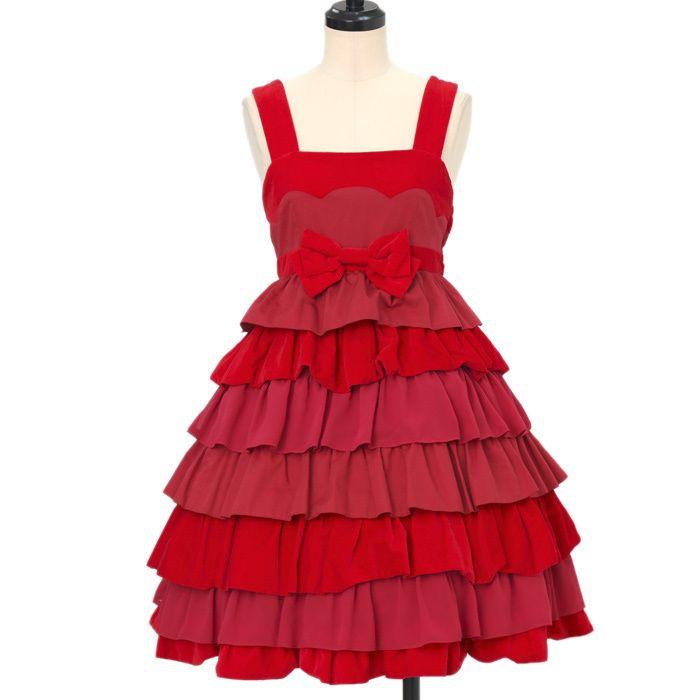 Heart E ☆ ·. . · ° ☆ Red velveteen jumper skirt https://www.wunderwelt.jp/products/%EF%BD%97-14321  IOS application ☆ Alice Holic ☆ release Japanese: https://aliceholic.com/ English: http://en.aliceholic.com/