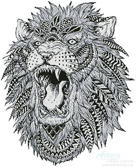 Abstract Lion Cross Stitch Pattern Abstract Lion Lion Tattoo Design Abstract Lion Tattoo