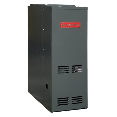 100 000 Btu 80 Afue Dedicated Downflow 2 Stage Goodman Gas Furnace Low Nox Emission Heating Furnace Furnace Maintenance Natural Gas Furnace