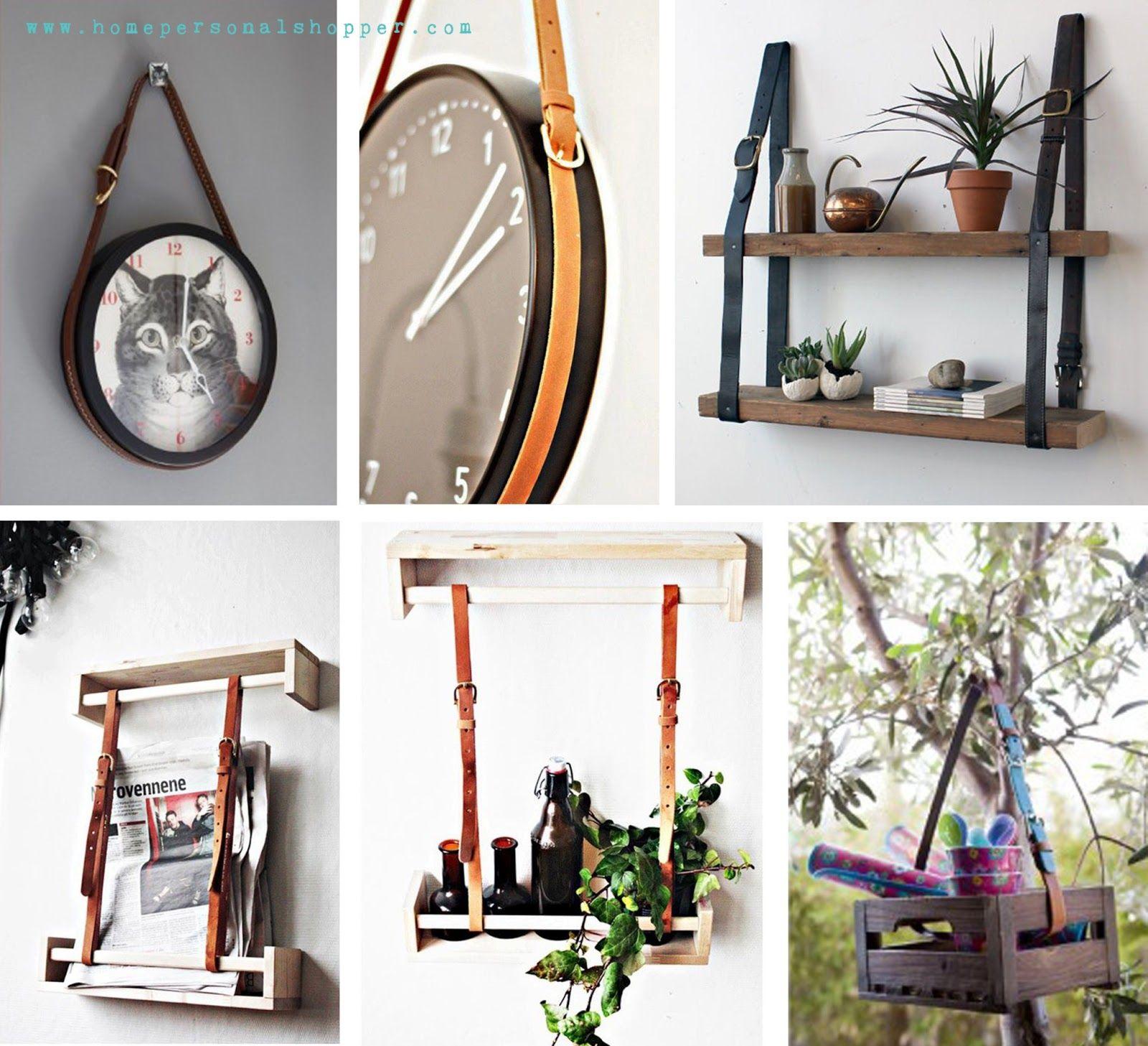 Ideas creativas para reutilizar los cinturones que ya no uses como parte de la decoraci n - Bricolaje y decoracion ...
