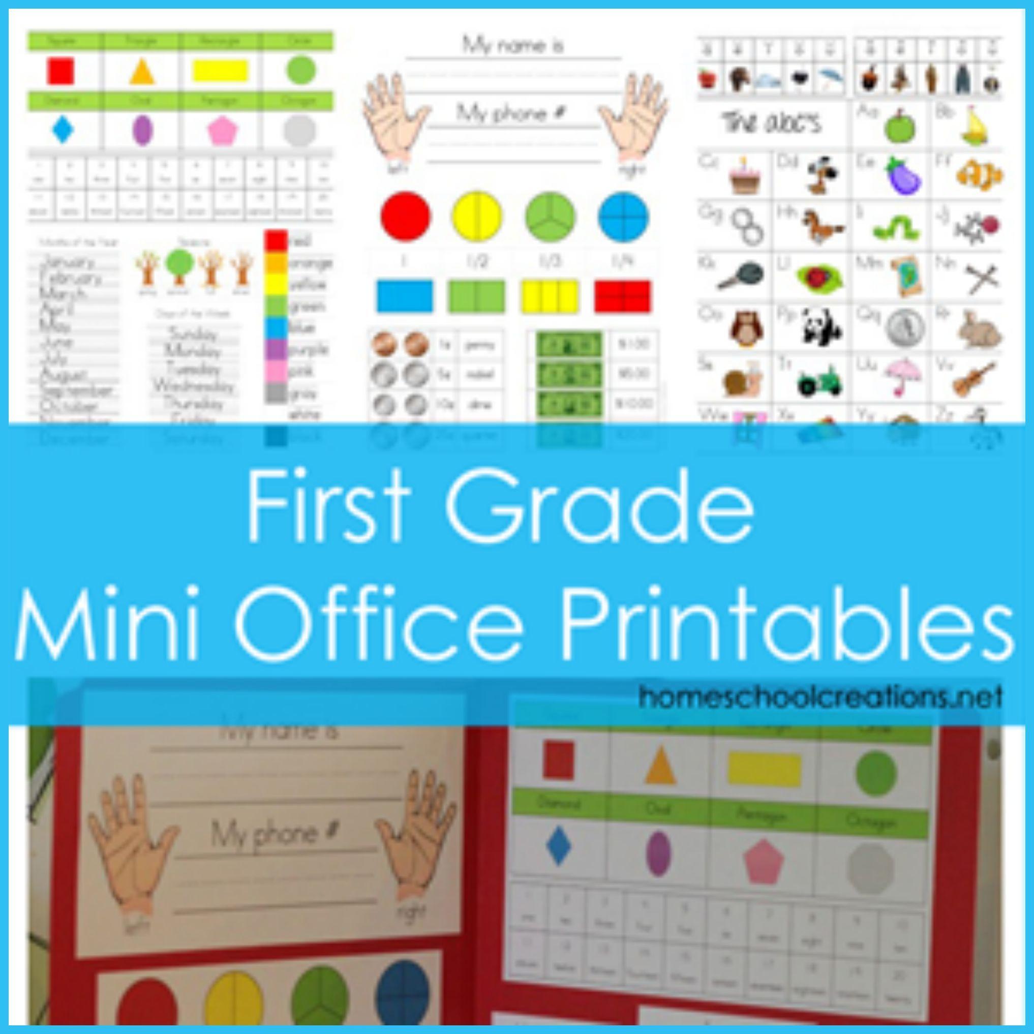 First Grade Mini Office Printables | WRITING | Pinterest | Mini ...