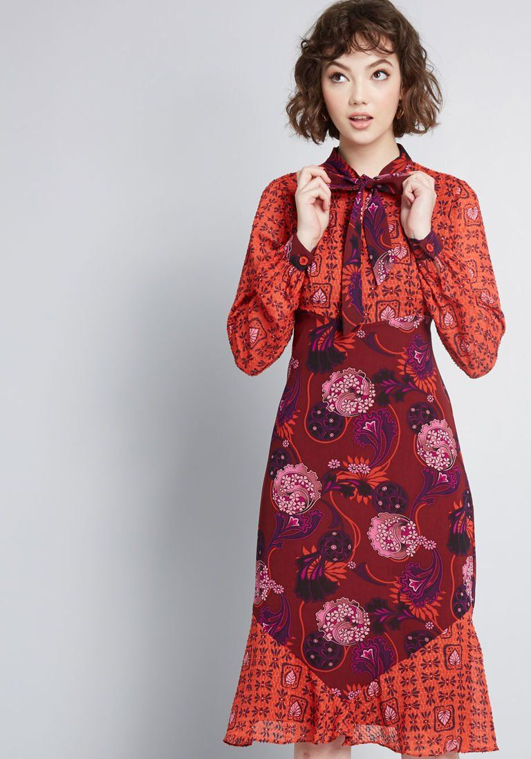 2ff91c4143b5 ModCloth x Anna Sui Unforgettable Flair A-Line Dress in 4 - Long Knee  Length by Anna Sui from ModCloth