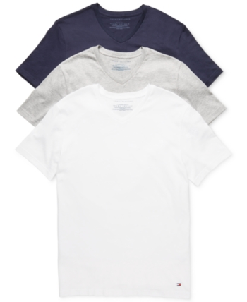 8531d8fd Tommy Hilfiger Men's Classic V Neck 3 Pack Undershirts 09TVN01 - Multi 2XL