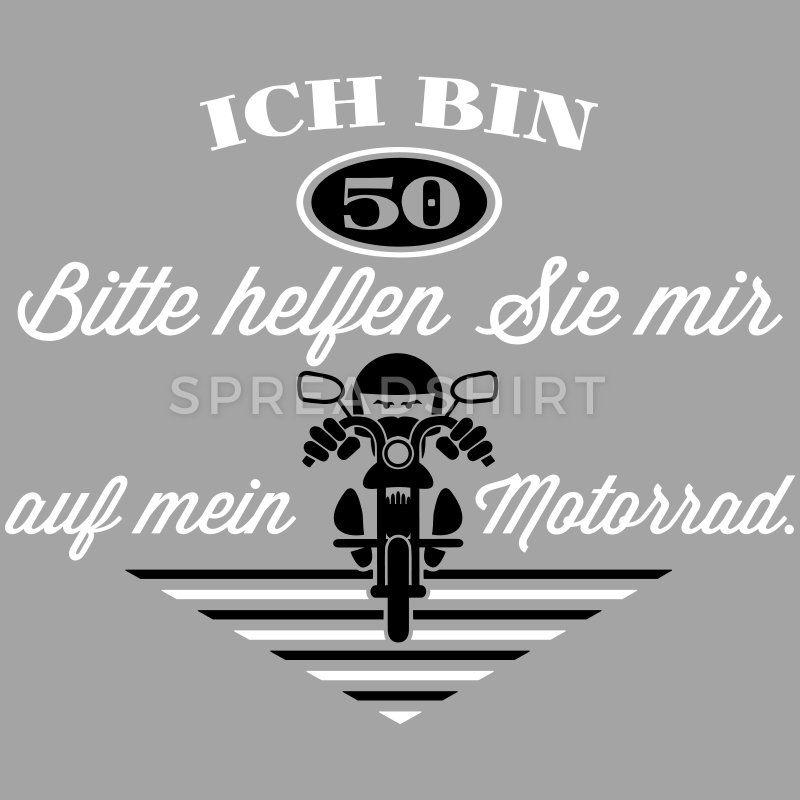 50 Geburtstag Motorrad Farbwechsel Manner T Shirt Mit