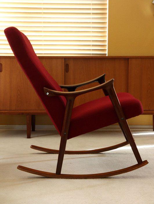 Danish Rocking Lounge Chair Teak Mid Century Modern Eames Westnofa Hans Wegner Ebay Mid Century Modern Chair Vintage Mid Century Furniture Apartment Decor