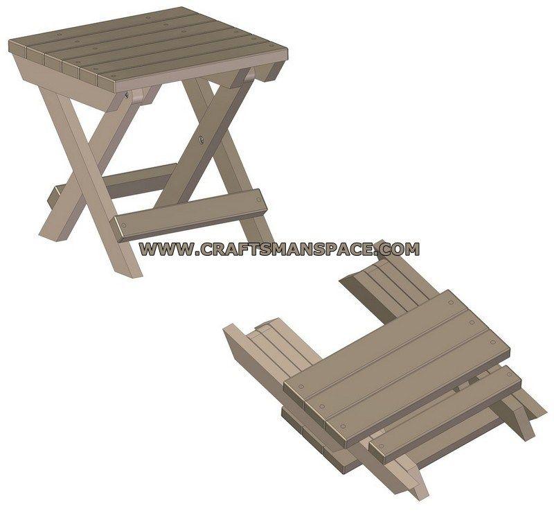 Plans PlanCamping 2019 Brilliant Folding Wood Table En Stool OwZiTPXku