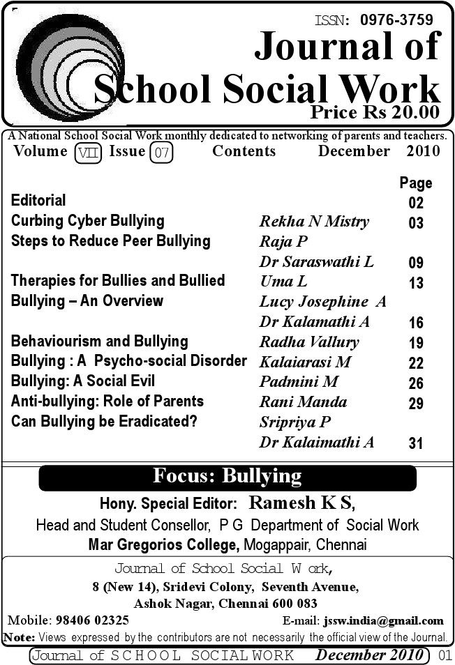 Journal Of School Social Work  Good Reads    School