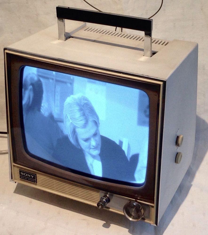 sony tv uk. vintage sony black \u0026 white portable television - tv-110 uk uhf solid state tv uk