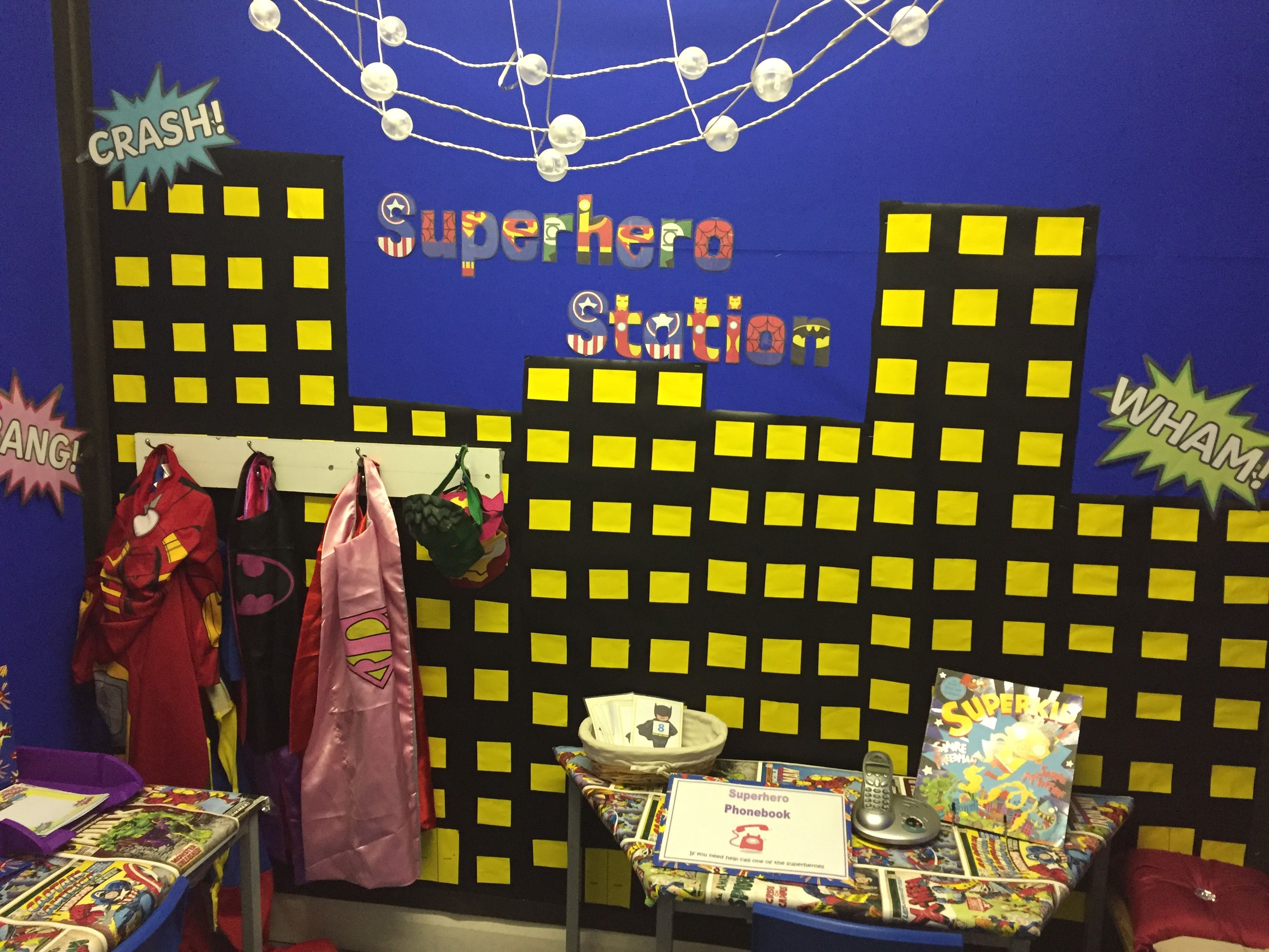 Superhero Station Role Play Area Reception Superheroes