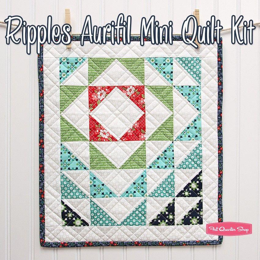 Ripple Mini Aurifil Quilt KitFeaturing Daysail par Bonnie ... : miniature quilt kits - Adamdwight.com