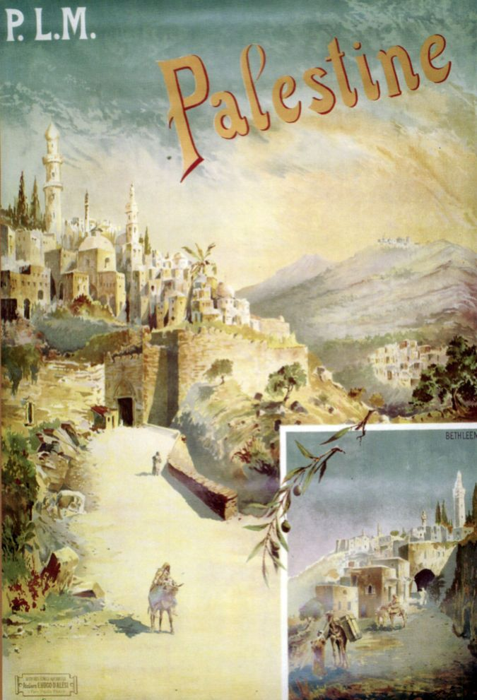 4054 P.L.M Palestine vintage Poster. Travel Decorative Art.design ...