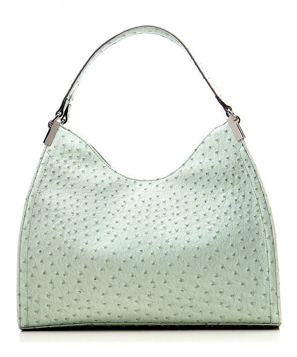 Look at this #zulilyfind! Mint Ostrich Irene Shoulder Bag by emilie m. #zulilyfinds