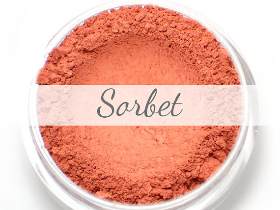 Mineral Blush Sample - Sorbet (fresh strawberry red blush, matte finish) - Vegan