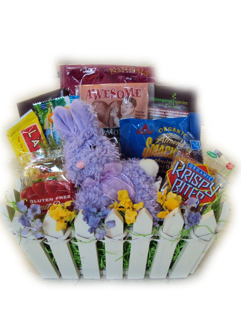 Vegan easter basket healthy easter basket gift ideas pinterest vegan easter basket negle Images