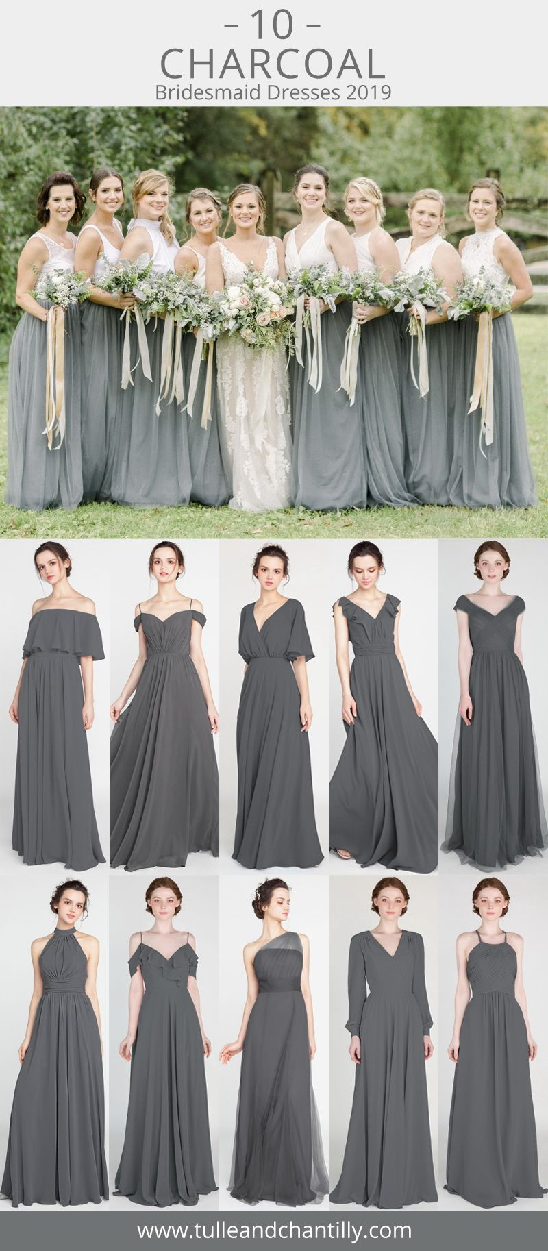 19+ Charcoal bridesmaid dresses long ideas in 2021