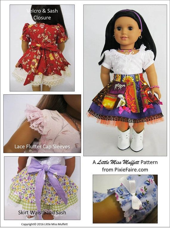 Pixie Faire Little Miss Muffett Faerie Faye Doll Clothes | ropa para ...