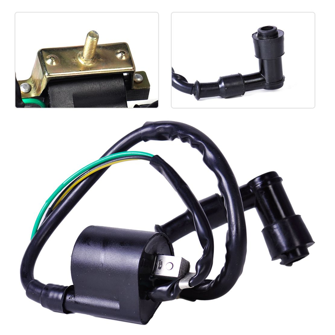 New 1Pc Black Motorbike Ignition Coil Pack fit for 4 Stroke Chinese