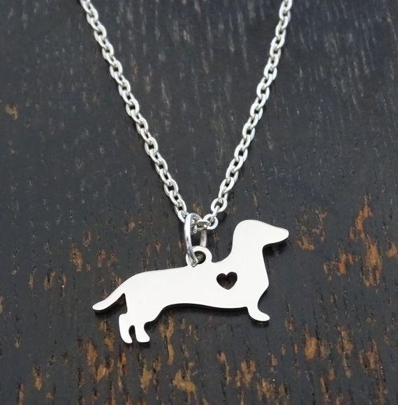 Dachshund Necklace, Dachshund Charm, Dachshund Pendant, Dachshund Jewelry, Dachshund Gift, Weiner Dog Necklace, Sausage Dog, Doxie Dog Charm