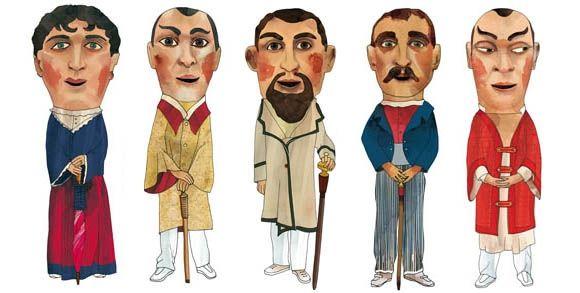 Dibujos San Fermin Para Colorear: Dibujos De Los Cabezudos De Pamplona, Para El Libro