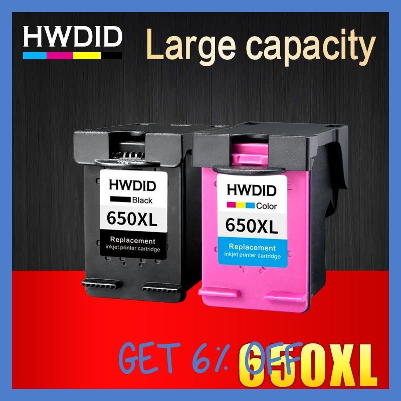 2 Pack Ink Cartridge Compatible For Hp 650 Xl For Hp Deskjet Ink