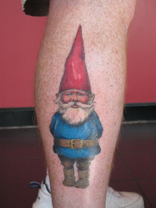 Gnome tattoo tattoos tattoo ideas pinterest colors for Garden gnome tattoo designs