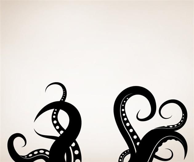 Giant Octopus Tentacles Vinyl Wall Decal Sticker