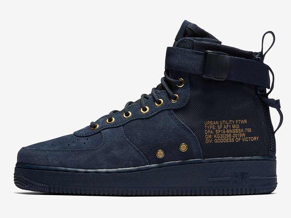 timeless design a07bf cda74 Nike SF-AF1 Mid Obsidian Suede Release Details + Photos | Sneaky | Nike sf  af1, Nike, Sneakers nike