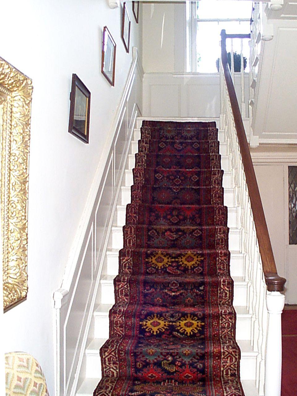 Nejad Rugs Www Nejad Com Antique Persian Oriental Runner Installed   Oriental Carpet Runners For Stairs   Wall Carpet   Stuart Street   Salem Ma   Hallway Carpet   Boston Ma