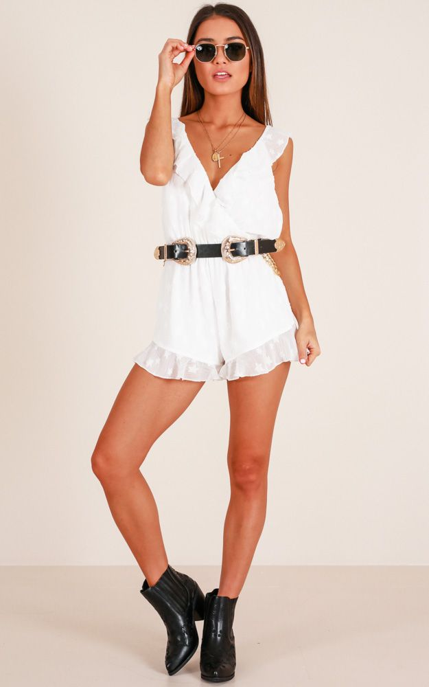 524604ab6285 Showpo Pretty And Free Playsuit in White - 14 (XL) Rompers   Jumpsuits