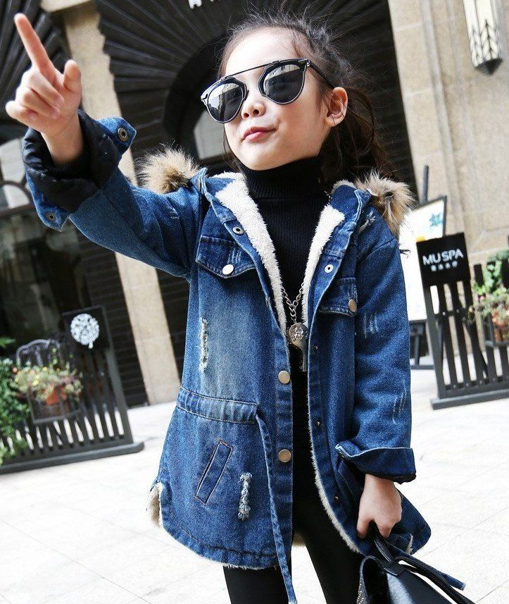 Kids Girls Long Velvet Jacket For Cold Winter Fashion Baby Girl Outfits Fashion Teenage Girls Kids Outfits Girls