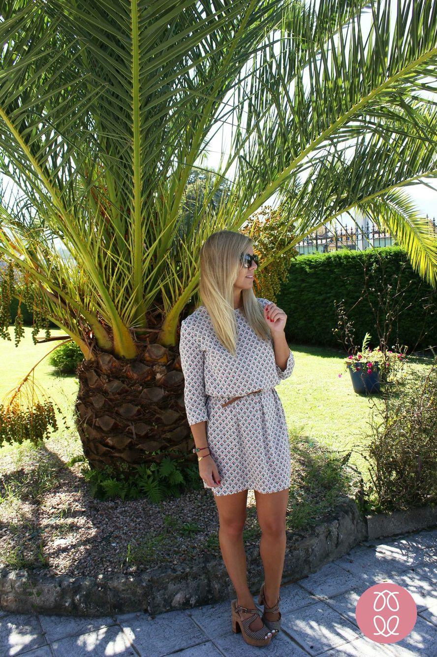 Vestido hecho a mano. Vestido estampado recto de la Nueva colección otoño invierno 2016. Disponible en www.caprichosdearmaeio.es