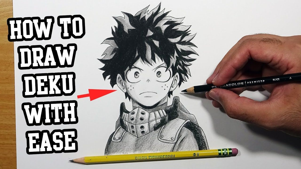How To Draw Deku For Beginners Midoriya Izuku Step By Step Tutorial In 2020 Drawings Step By Step Drawing Draw