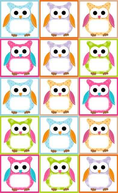 Classroom Decor Templates ~ Recursos educativos flapjack owl tarjeta de cumpleaños