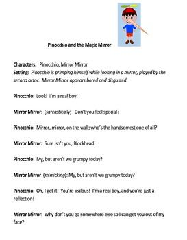 Play for Children: Pinocchio and the Magic Mirror   Honesty