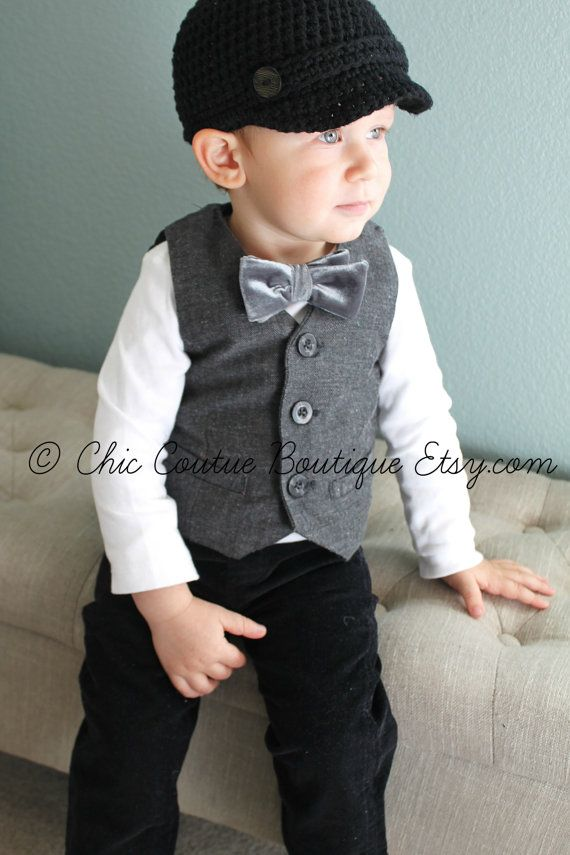 d413c8e0a Baby Boy Easter Outfit Velvet Bow Tie by ChicCoutureBoutique | Baby ...