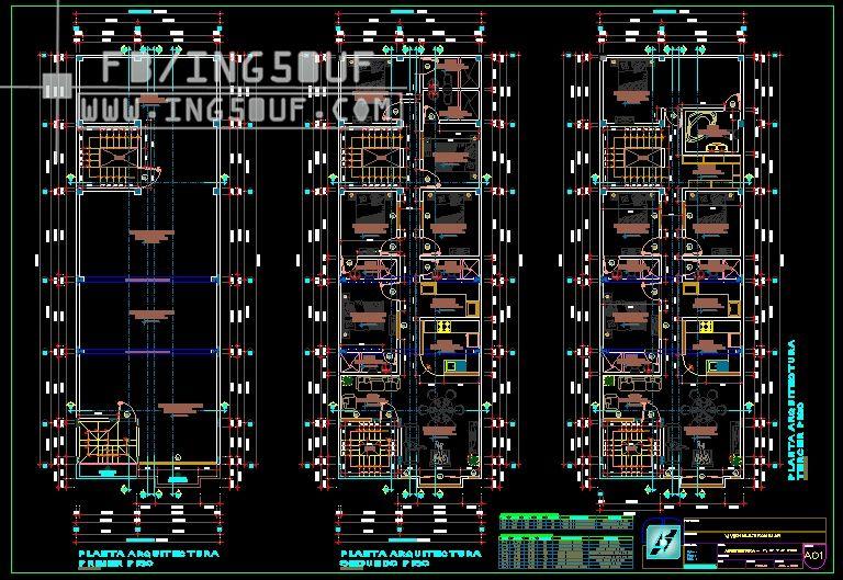 مخططات معمارية Hostal من 4 طوابق اوتوكاد Dwg مخططات معمارية Hostal من 4 طوابق اوتوكاد Dwg مخططات معمارية H Autocad Audio Mixer Music Instruments