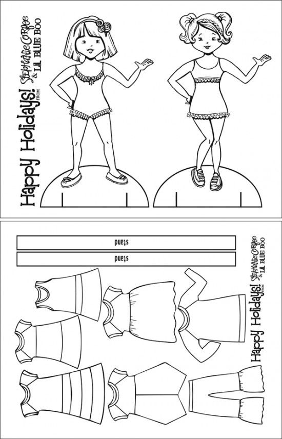 photograph about Free Printable Paper Dolls Black and White identified as cost-free paper doll printables- all people have to have in direction of print People for