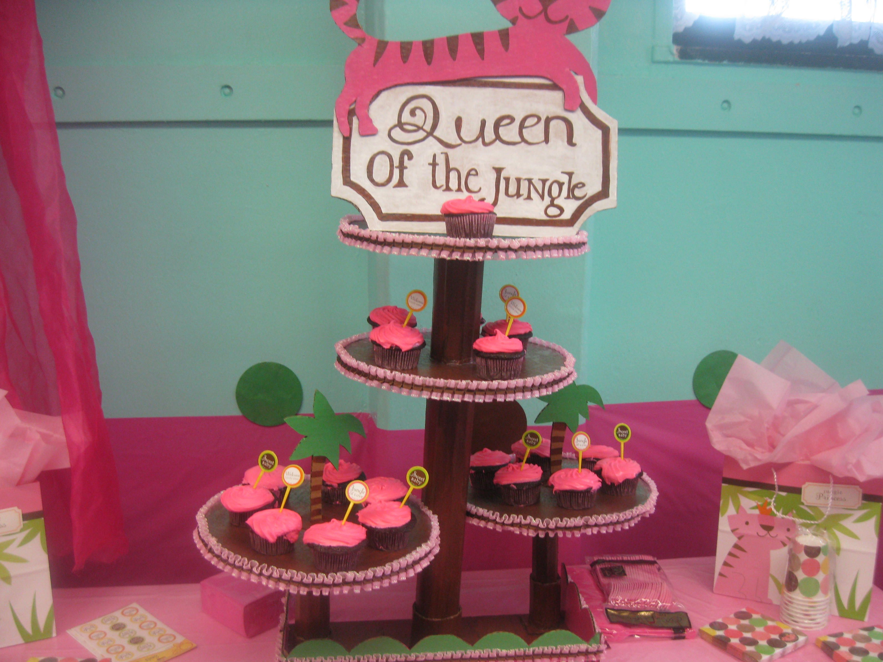 Cupcake stand for a baby shower
