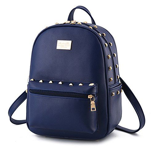 da68dbc399 Cute Girls Small PU Leather Backpacks Satchel Tote Purse Handbag Travel  Daypack