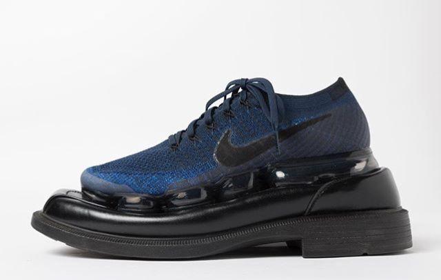 Botter x Nike Navy blue Vapormaz SS18 / Dark Brown Banker Shoes